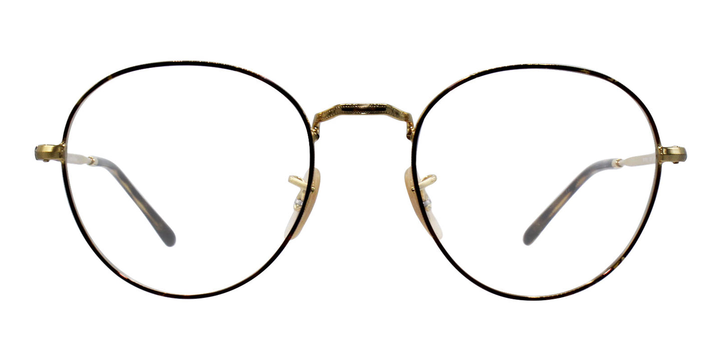 Ray-Ban RX3582V Gold Tortoise / Clear Lens