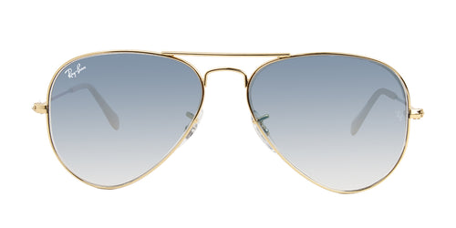 Ray Ban - Aviator Gold Aviator Unisex Sunglasses - 55mm