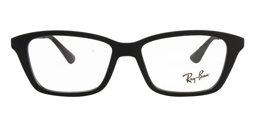 Ray Ban Rx - RY1540 Black Rectangular Unisex Eyeglasses - 48mm