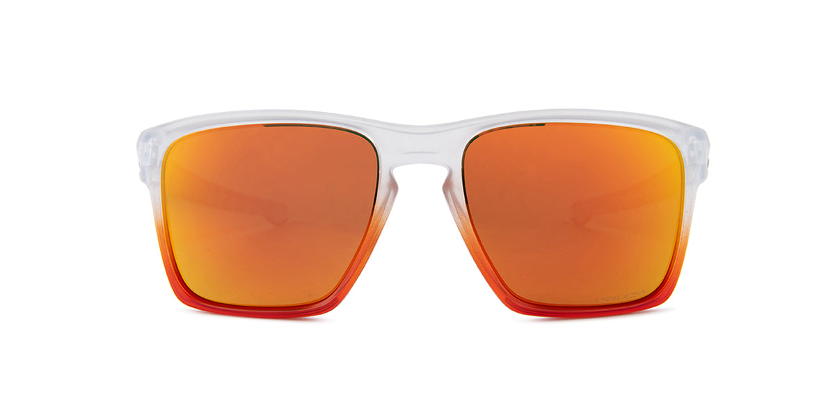 Oakley Sliver Clear / Red Lens Mirror Sunglasses