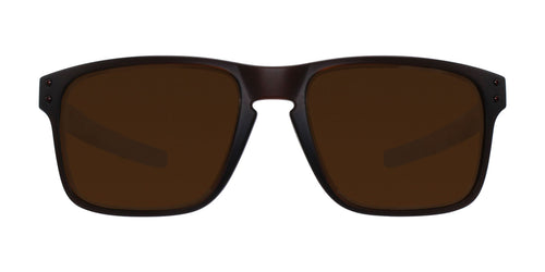 Oakley - OO9384 Brown Rectangular Unisex Polarized Sunglasses - 57mm