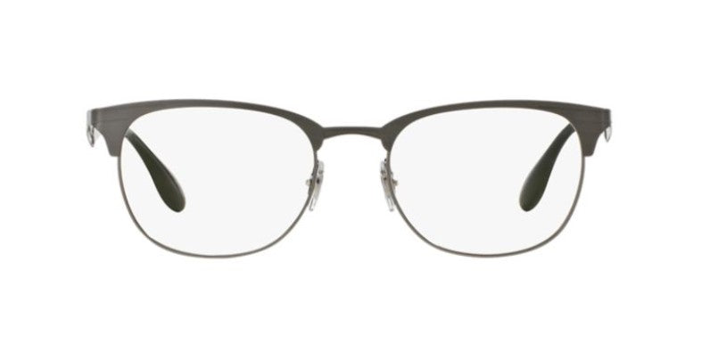 Ray Ban Rx - RX6346 Gunmetal Square Unisex Eyeglasses - 52mm