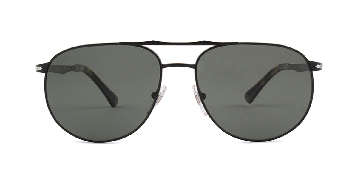 Persol 2455-S Black / Gray Lens Solid Polarized Sunglasses