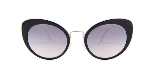 Miu Miu SMU06T Black / Purple Lens Sunglasses
