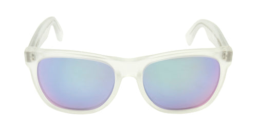 Retrosuperfuture Classic Clear / Blue Lens Mirror Sunglasses