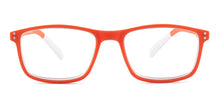 Pantone N Four Orange / Clear Lens Eyeglasses +3
