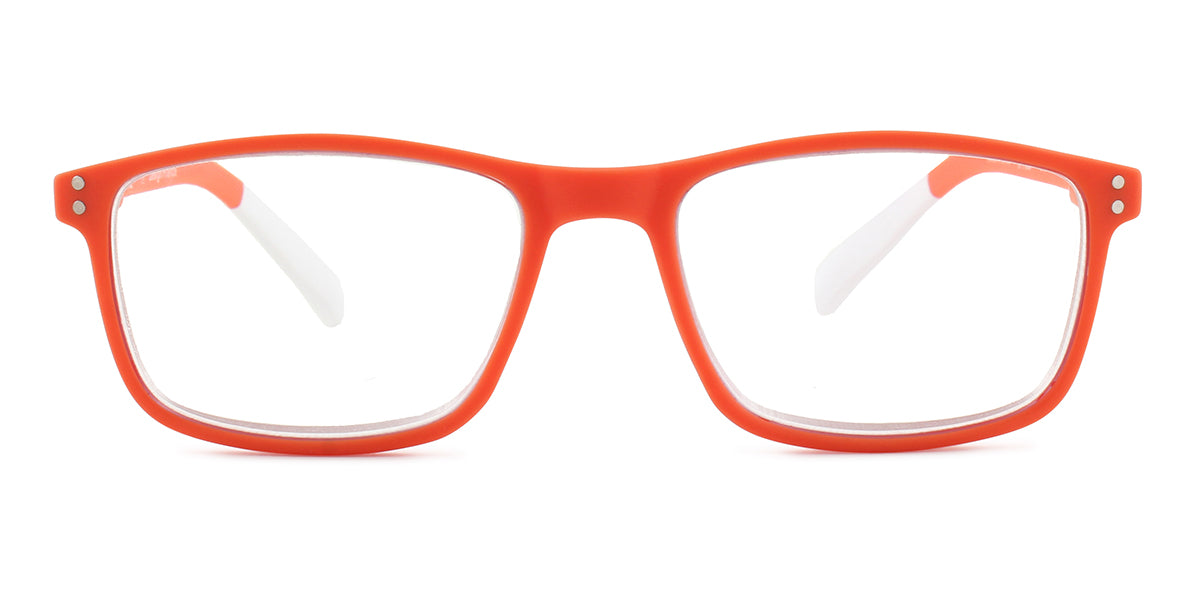 Pantone - N Four +3.00 Orange/Clear Round Women Readers - 52mm