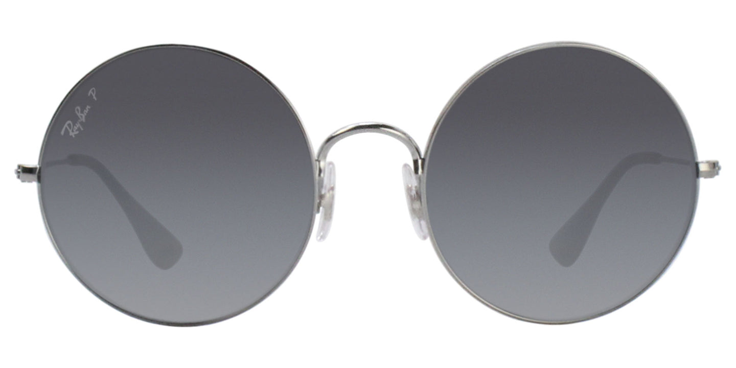 Ray Ban - RB3592 Silver/Gray Gradient Polarized Oval Unisex Sunglasses - 55mm