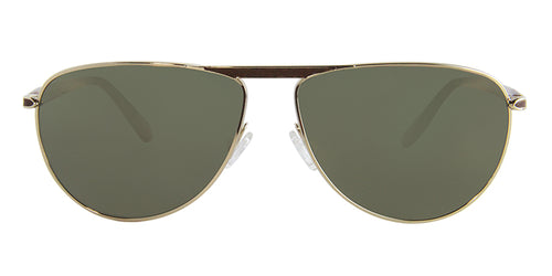 Oliver Peoples Conduit Street Gold Brown / Green Lens Mirror Polarized Sunglasses