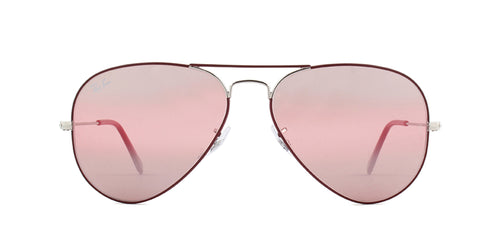 Ray-Ban RB3025 Bordeaux / Purple Lens Mirror Sunglasses