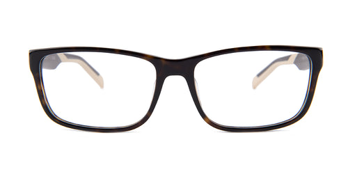 Tagheuer - TH0553 Tortoise Rectangular Men Eyeglasses - 57mm