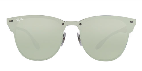 Ray Ban RB3576N Brushed Silver / Dark Green Mirror Silver Lens Mirror Sunglasses