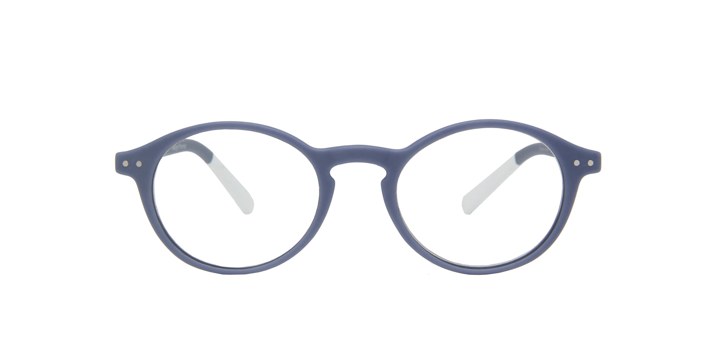 Pantone - N Two +1.50 Grey Purple/Clear Oval Unisex Readers - 49mm