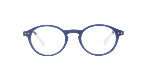 Pantone - N Two +2.50 Blue Oval Unisex Eyeglasses - 49mm
