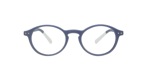 Pantone - N Two +2.50 Grey Purple Oval Unisex Eyeglasses - 49mm