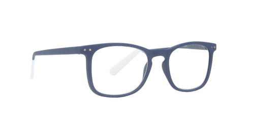Pantone - N Three +2.00 Blue Rectangular Unisex Eyeglasses - 51mm