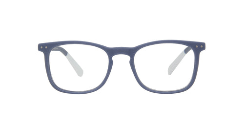 Pantone - N Three +2.00 Grey Purple/Clear Rectangular Unisex Readers - 51mm
