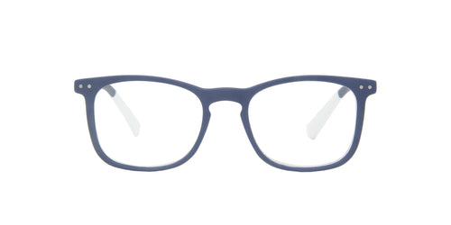 Pantone - N Three +3.00 Blue Rectangular Unisex Eyeglasses - 51mm