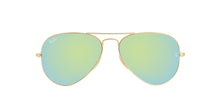 Ray Ban - Aviator Gold/Green Mirror Unisex Sunglasses - 55mm