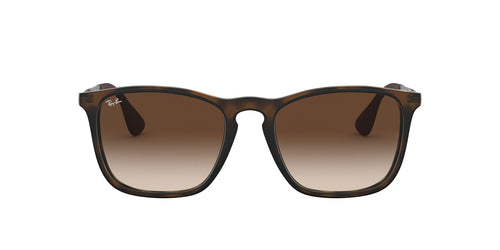 Ray Ban - Chris Tortoise/Brown Gradient Rectangular Unisex Sunglasses - 54mm