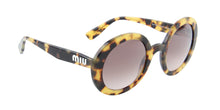 Miu Miu - MU06US Havana/Brown Gradient Round Women Sunglasses - 48mm