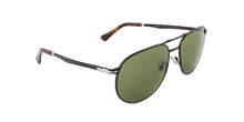 Persol - PO2455-S Black Aviator Unisex Sunglasses - 60mm