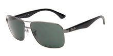 Ray Ban - RB3516 Gray/Green Rectangular Men Sunglasses - 59mm