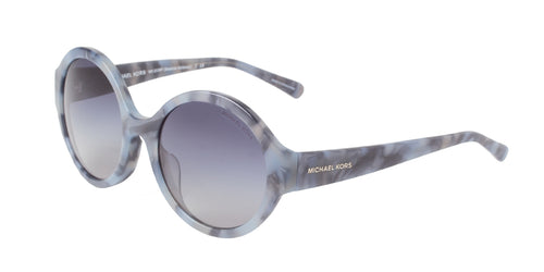Michael Kors - MK2035F Blue Marble Oval Women Sunglasses - 55mm