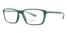 Ray Ban Rx - RX7018 Green Rectangular Unisex Eyeglasses - 56mm
