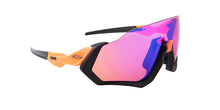 Oakley Flight Jacket Black / Purple Lens Mirror Sunglasses