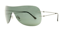 Ray Ban - RB8057 Gray/Green Shield Unisex Sunglasses