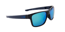 Oakley Crossrange Black / Blue Lens Mirror Sunglasses