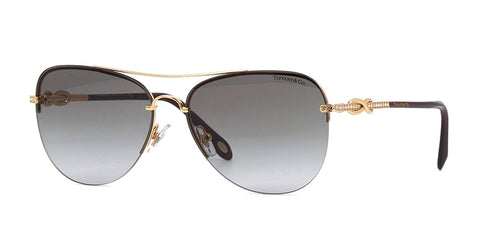 Tiffany TF3054-B Gold / Black Lens Sunglasses