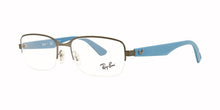 Ray Ban Rx - RX6311 Blue Silver Semi-Rimless Unisex Eyeglasses - 55mm