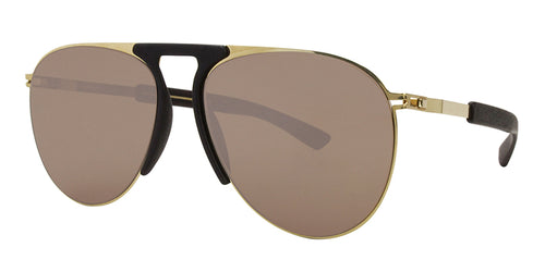 Mykita - Rye Gold Aviator Unisex Sunglasses - 59mm