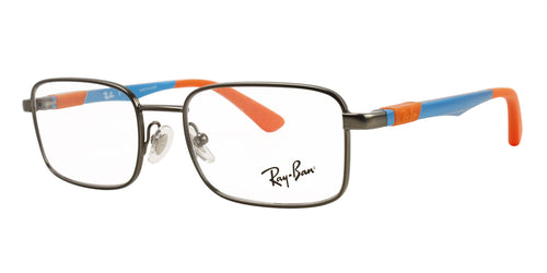 Ray Ban Rx - RY1043 Gray Rectangular Unisex Eyeglasses - 46mm