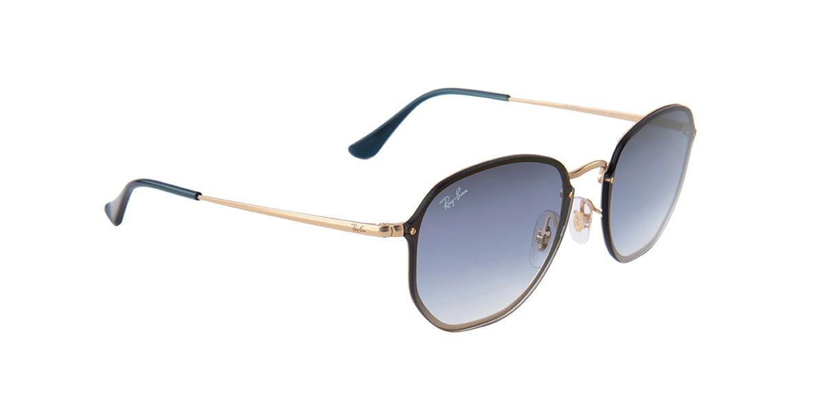 Ray Ban - RB3579N Gold/Blue Gradient Square Unisex Sunglasses - 58mm