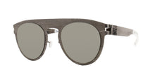 Mykita Margiela - MMTransfer004 Gray/Gray Oval Unisex Sunglasses - 50mm