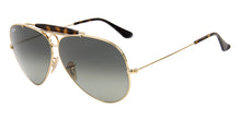 Ray Ban - Shooter Gold/Green Gradient Aviator Men Sunglasses - 62mm