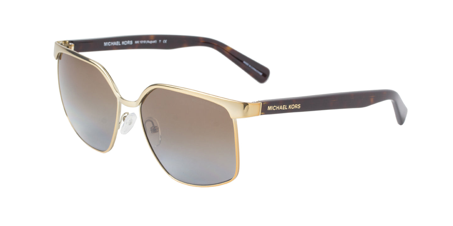 Michael Kors - MK1018 Gold Rectangular Women Sunglasses - 56mm