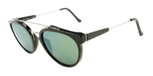 Retrosuperfuture Giaguaro Black / Green Lens Mirror Sunglasses