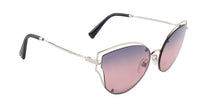 Valentino - VA2015 Silver Cat Eye Women Sunglasses - 58mm
