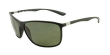 Ray Ban - RB4231 Black/Green Polarized Rectangular Men Sunglasses - 65mm