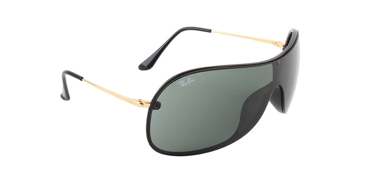Ray Ban - RB4411 Black/Green Aviator Unisex Sunglasses - 41mm