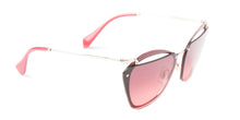 Miu Miu - MU54TS Red Oval Women Sunglasses - 64mm