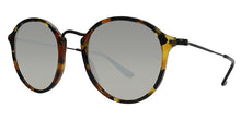 Ray Ban - Round Fleck Tortoise/Blue Mirror Oval Unisex Sunglasses - 52mm