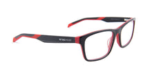 Tagheuer - TH0555 Black Rectangular Men Eyeglasses - 57mm
