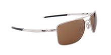 Oakley - Gauge 8 Silver/Brown Square Unisex Polarized Sunglasses