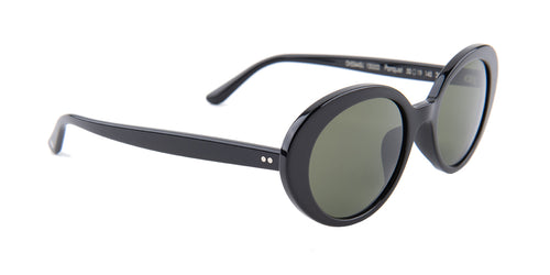 Oliver Peoples Parquet Black / Green Lens Sunglasses