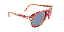 Persol 714 Red / Blue Lens Mirror Sunglasses